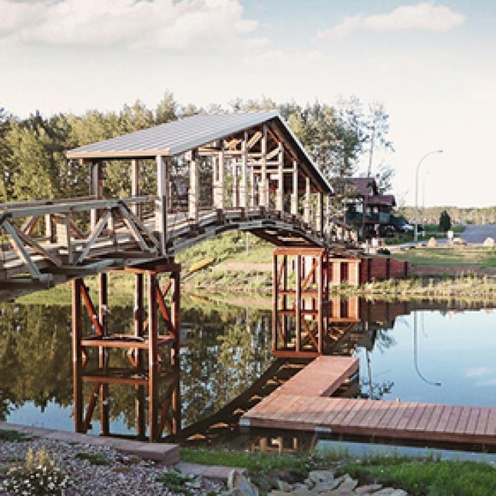 Timberframe Pedestrian Bridge
